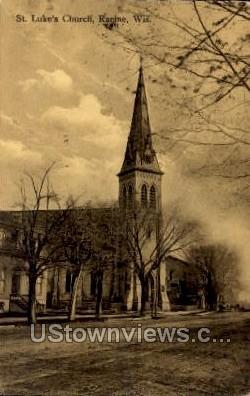 St. Luke's Church - Racine, Wisconsin WI Postcard