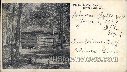 Kitchen In Glen Park - River Falls, Wisconsin WI Postcard