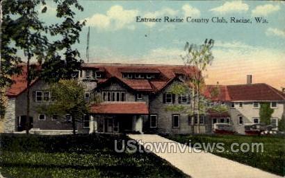 Racine Country Club - Wisconsin WI Postcard