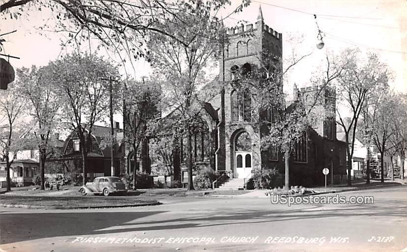 First Methodist Episcopal Church - Reedsburg, Wisconsin WI Postcard