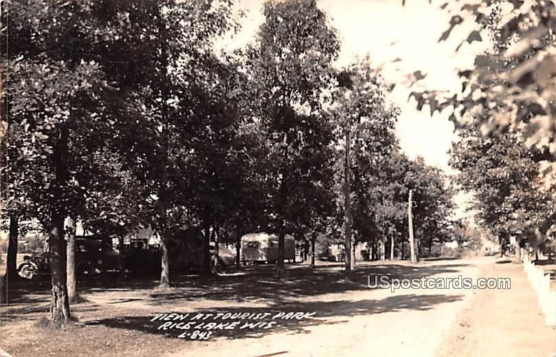 Tourist Park - Rice Lake, Wisconsin WI Postcard