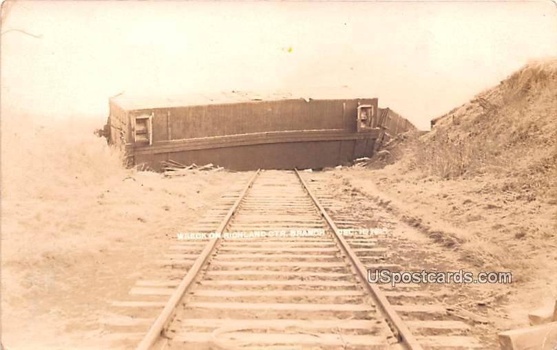 Wreck on Richland OTR Branch - Richland Center, Wisconsin WI Postcard