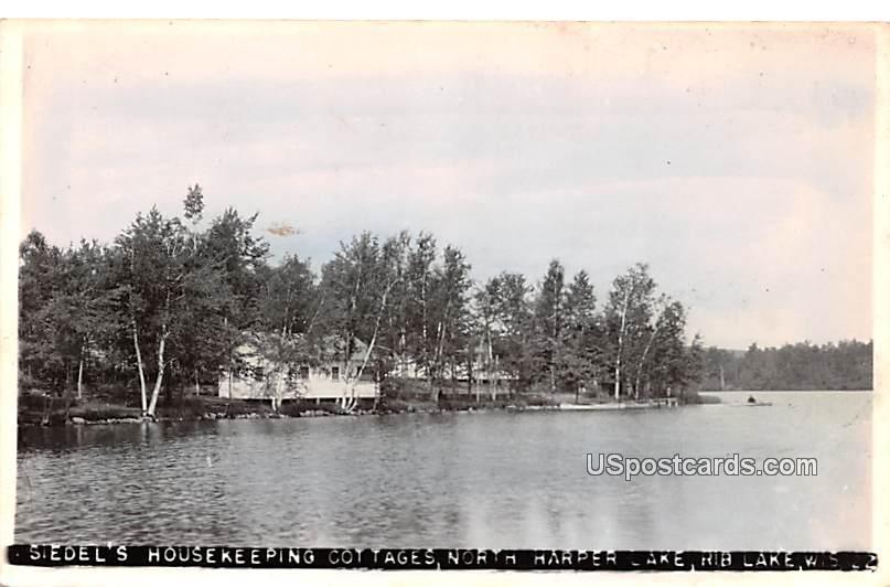 Sidel's Housekeeping Cottages - Rib Lake, Wisconsin WI Postcard