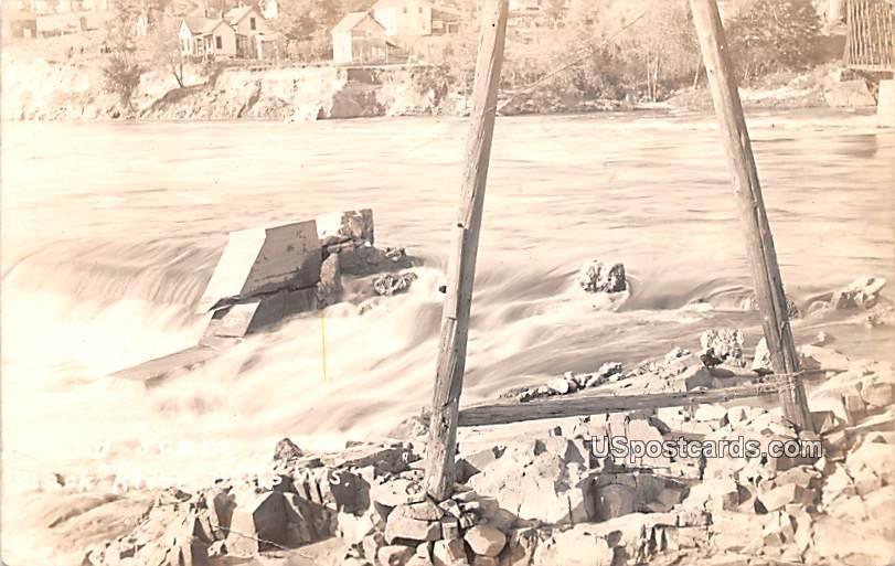 Flood Scene - Rock River Falls, Wisconsin WI Postcard