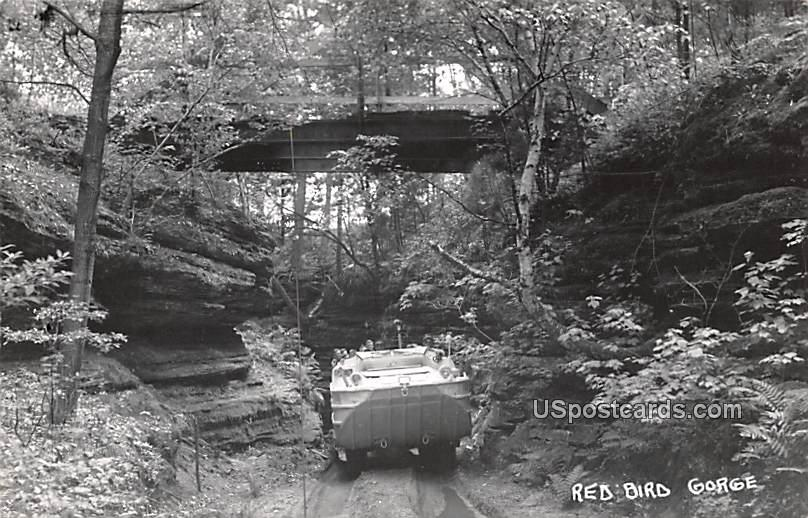 Tour Cart - Red Bird Gorge, Wisconsin WI Postcard