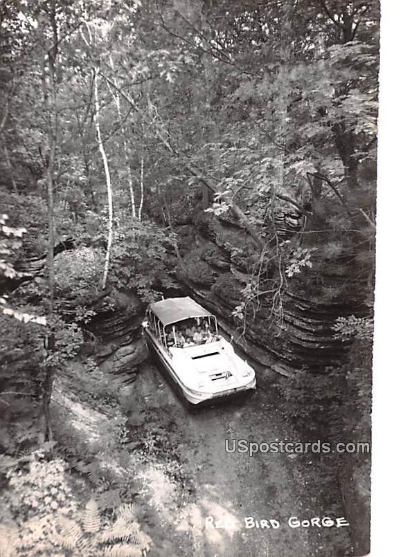 Red Bird Gorge - Wisconsin WI Postcard