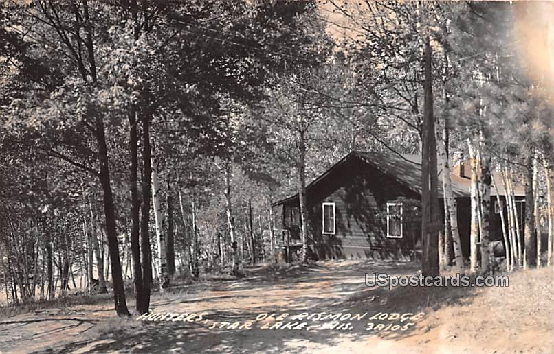 Hunters, Ole Rismon Lodge - Star Lake, Wisconsin WI Postcard