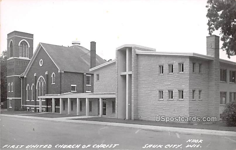 First United Church of Christ - Sauk City, Wisconsin WI Postcard
