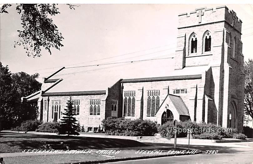 St Stephen's Catholic Church - Stevens Point, Wisconsin WI Postcard