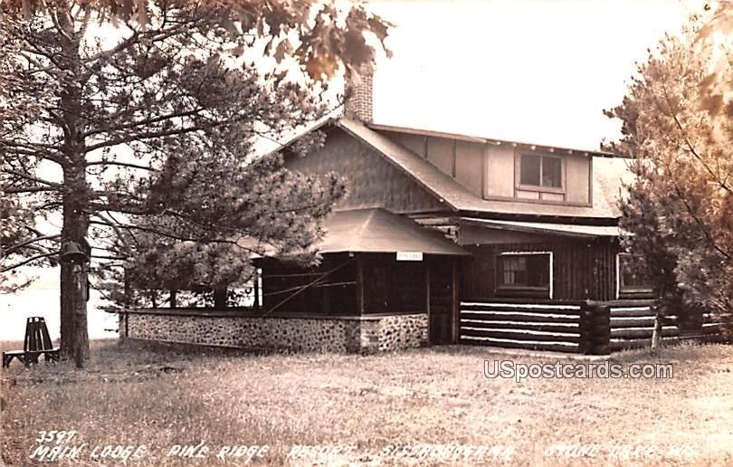 Main Lodge - Stone Lake, Wisconsin WI Postcard
