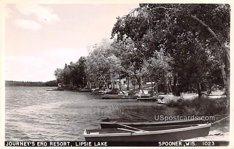 Journey's End Resort - Spooner, Wisconsin WI Postcard