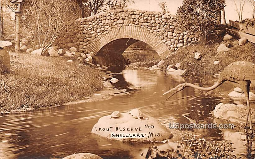 Trout Reserve 40 - Shell Lake, Wisconsin WI Postcard