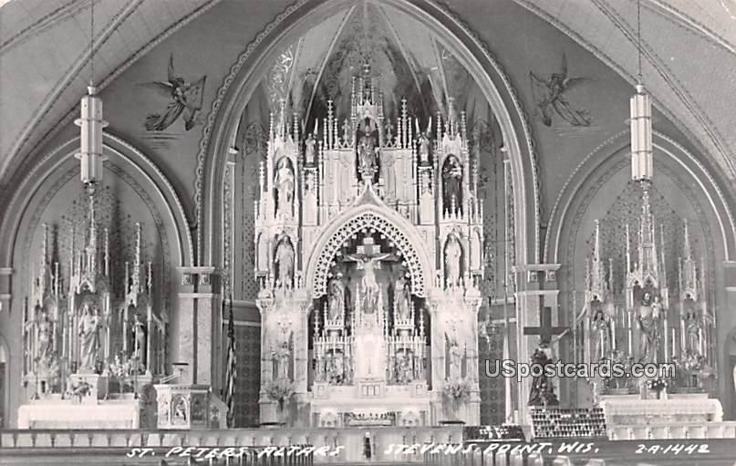 St Peter's Altars - Stevens Point, Wisconsin WI Postcard