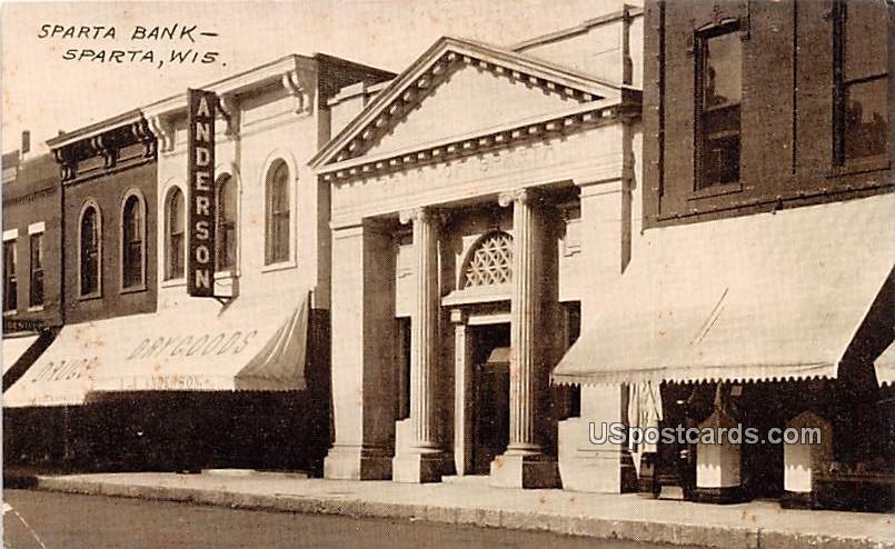 Sparta Bank - Wisconsin WI Postcard