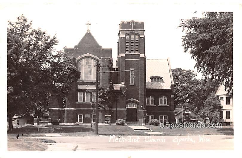 Methodist Church - Sparta, Wisconsin WI Postcard