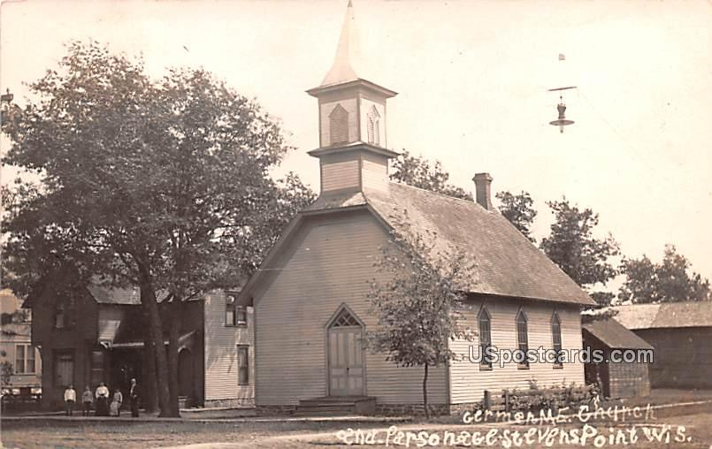 Germen ME Church and Parsonage - Stevens Point, Wisconsin WI Postcard