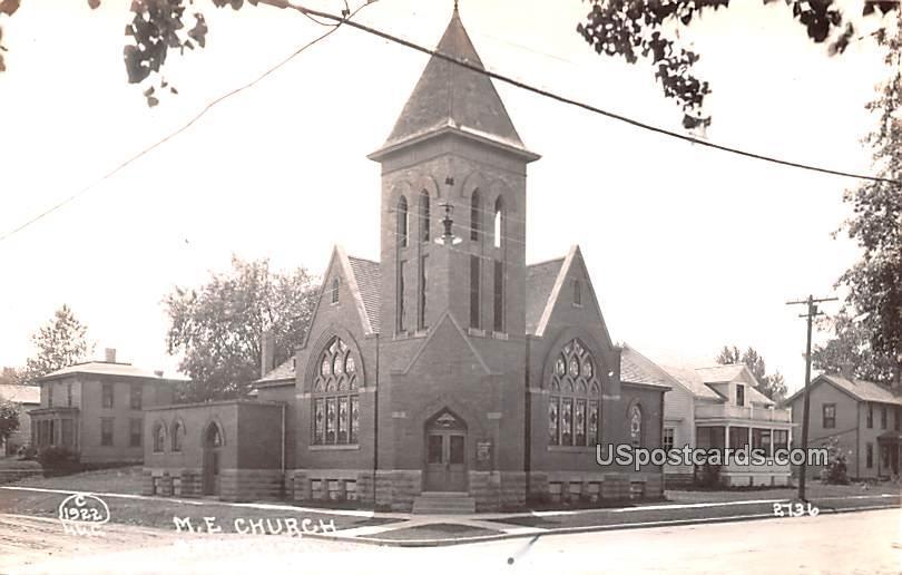 ME Church - Stoughton, Wisconsin WI Postcard