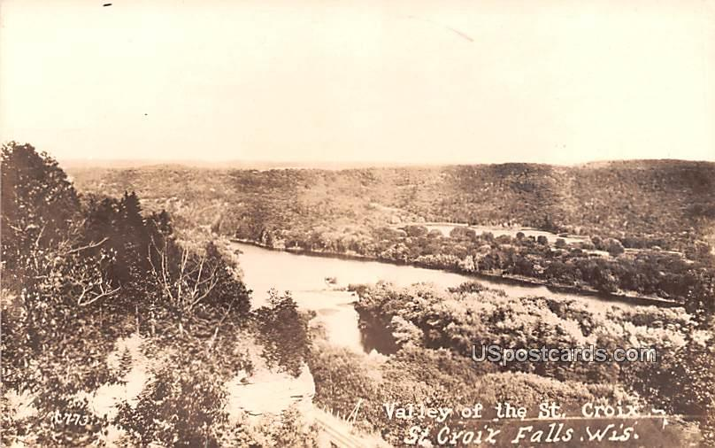 Valley of the St Croix - Saint Croix Falls, Wisconsin WI Postcard