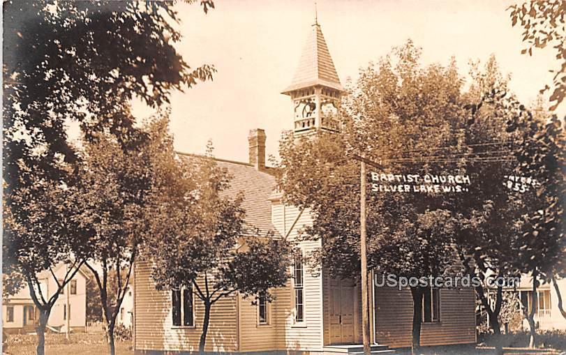 Baptist Church - Silver Lake, Wisconsin WI Postcard