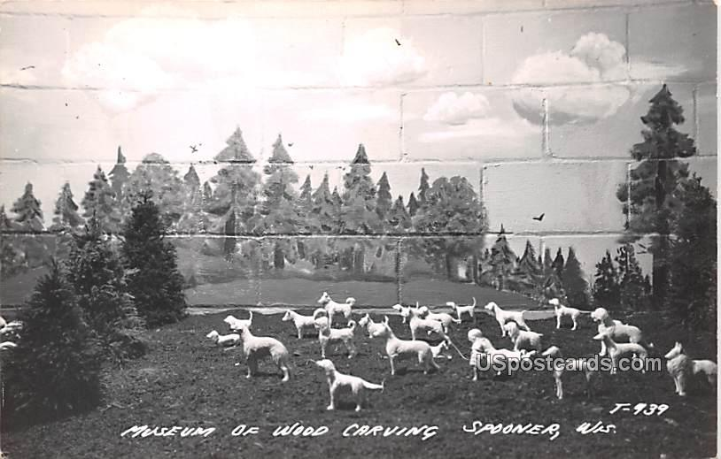 Museum of Wood Carving - Spooner, Wisconsin WI Postcard
