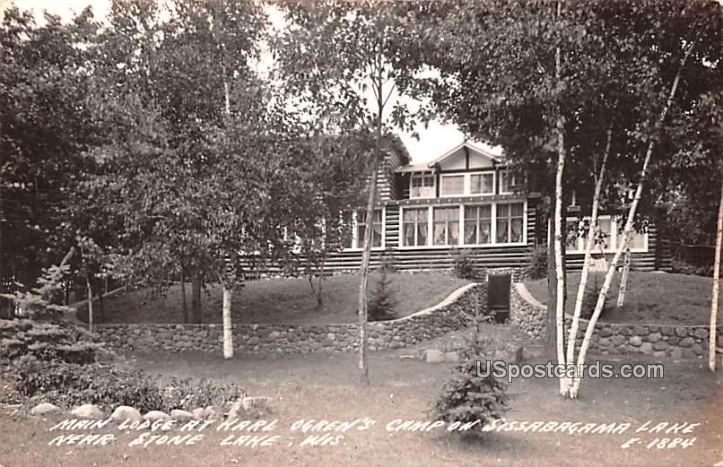 Main Lodge at Karl Green's Camp - Stone Lake, Wisconsin WI Postcard