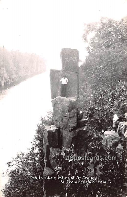 Devils Chair - Saint Croix Falls, Wisconsin WI Postcard