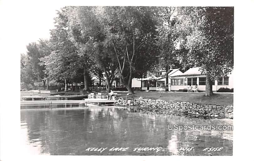 Kelly Lake - Suring, Wisconsin WI Postcard