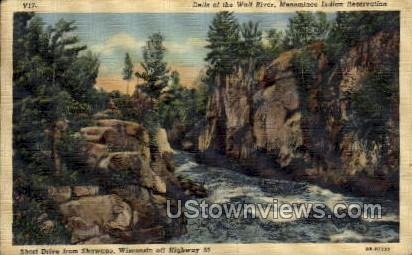 Dells Of The Wolf River - Shawano, Wisconsin WI Postcard