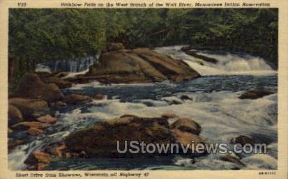 Rainbow Falls  - Shawano, Wisconsin WI Postcard