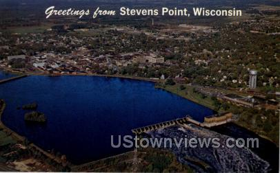 Greetings From - Stevens Point, Wisconsin WI Postcard