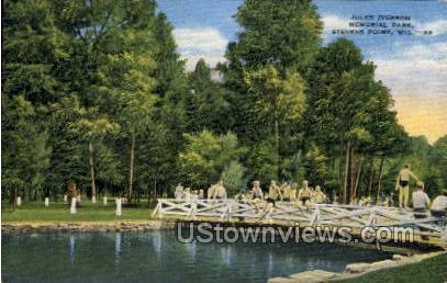 Memorial Park  - Stevens Point, Wisconsin WI Postcard