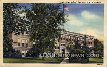 High School - Sturgeon Bay, Wisconsin WI Postcard