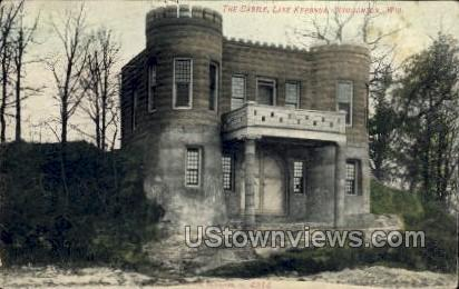 The Castle, Lake Kegonsa - Stoughton, Wisconsin WI Postcard