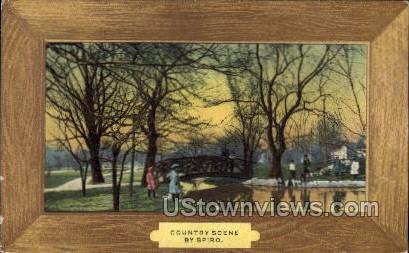 Country Scene - Spiro, Wisconsin WI Postcard