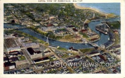 Aerial View Of Sheboygan - Wisconsin WI Postcard