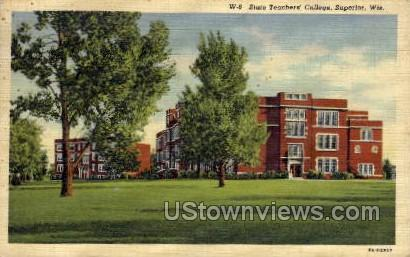 State Teachers College - Superior, Wisconsin WI Postcard
