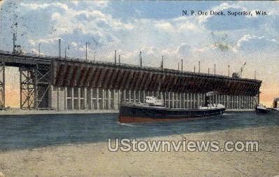 Ore Dock - Superior, Wisconsin WI Postcard