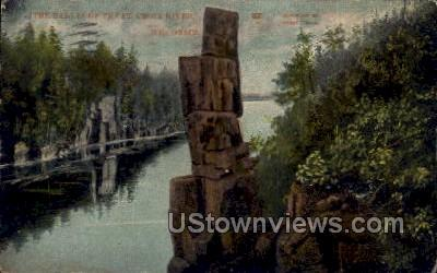The Dalles Of The St. Croix River - Misc, Wisconsin WI Postcard