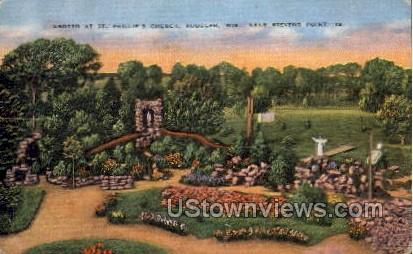 Grotto At St. Phillips Church - Stevens Point, Wisconsin WI Postcard