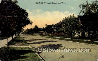 Hughitt Avenue - Superior, Wisconsin WI Postcard