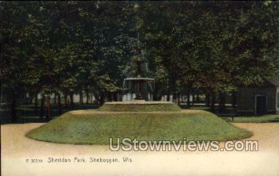 Sheridan Park - Sheboygan, Wisconsin WI Postcard