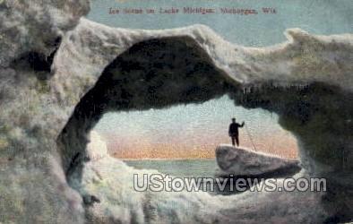 Lake Michigan - Sheboygan, Wisconsin WI Postcard