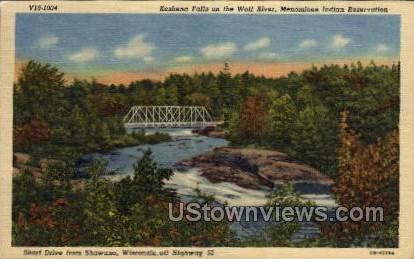 Keshena Falls - Shawano, Wisconsin WI Postcard
