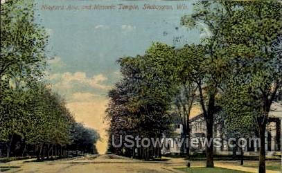 Niagara Avenue - Sheboygan, Wisconsin WI Postcard
