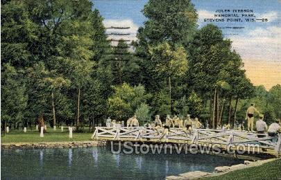 Jules Iverson Memorial Park - Stevens Point, Wisconsin WI Postcard