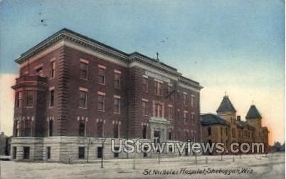 St. Nicholas Hospital  - Sheboygan, Wisconsin WI Postcard