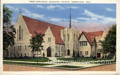 First Methodist Episcopal Church - Sheboygan, Wisconsin WI Postcard