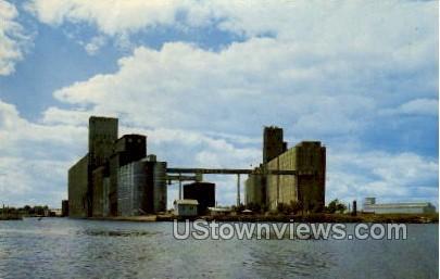 Grain Elevator - Superior, Wisconsin WI Postcard