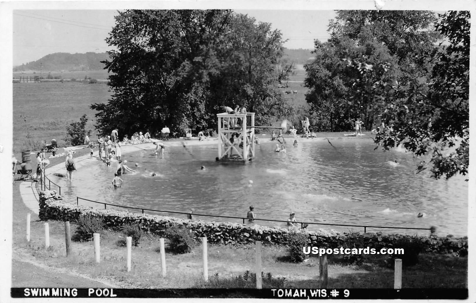 Swimming Pool - Tomah, Wisconsin WI Postcard
