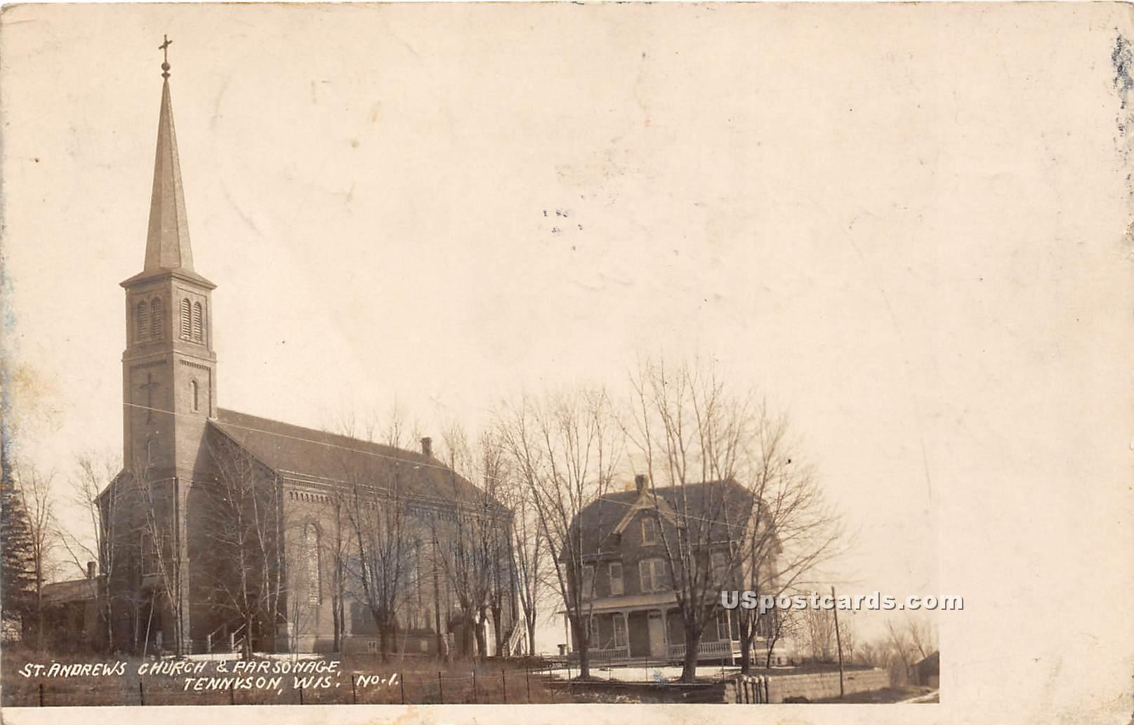 St Andrew's Church & Parsonage - Tennison, Wisconsin WI Postcard